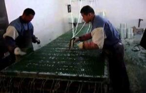 Производство стеклопластикового настила в Китае